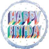 Ballon d'anniversaire prismatique, arc-en-ciel, 71 cm | Amscannull