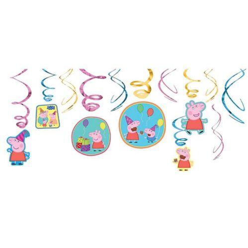 Peppa Pig Swirl Decorations, 12-pc Product image