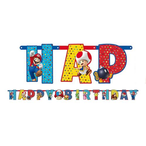 Banderole d'anniversaire Super Mario