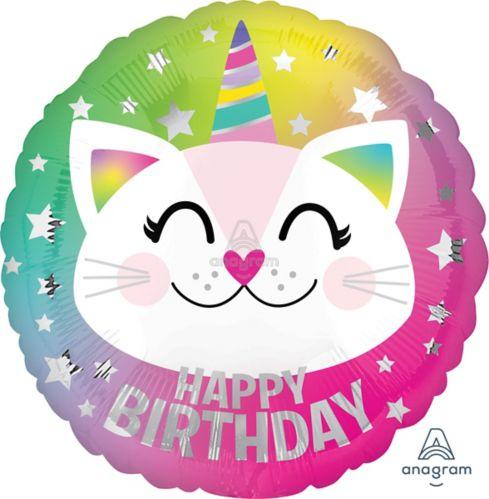 Cat Birthday Balloon, 17-in
