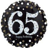 Sparkling Celebration 65th Birthday Balloon, 18-in