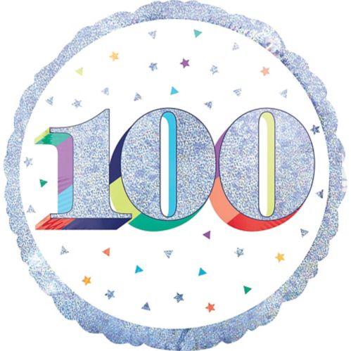 Prismatic Rainbow 100th Birthday Balloon