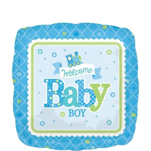 Welcome Little One Boy Welcome Baby Balloon, 17-in