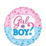 Ballon pour révélation du sexe, Girl or Boy, 42 cm