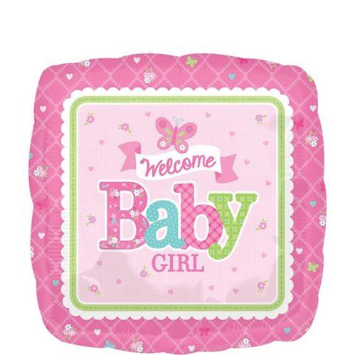 Ballon Bienvenue bébé pour petite fille, 17 po