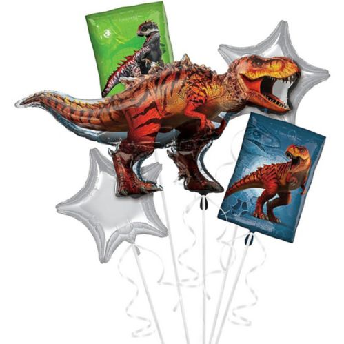 Jurassic World T-Rex Balloon Bouquet, 5-pc