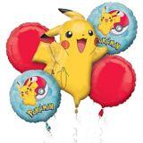 Bouquet de ballons Poké Ball et Pikachu, paq. 5