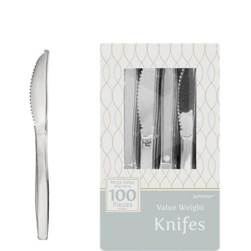 Plastic Knives, Silver, 100-pk Product image