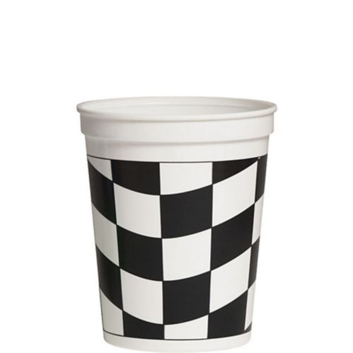 Checkered Stadium Cup, Black/White