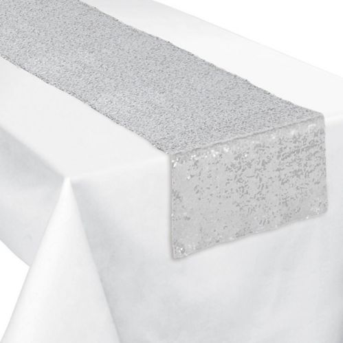 Sequin Table Runner, Silver