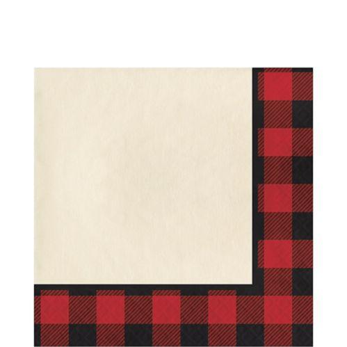 Serviettes de table, motif écossais, paq. 16