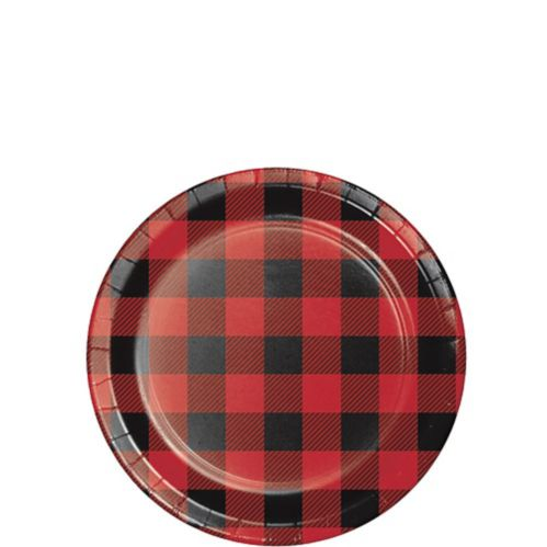 Buffalo Plaid Dessert Plates, 8-pk