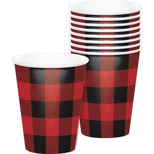 Buffalo Plaid Paper Cups, 8-pk