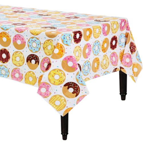 Donut Time Plastic Tablecloth, 54-in x 102-in