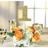 Gold Table Number Centerpiece Sticks, 1-12