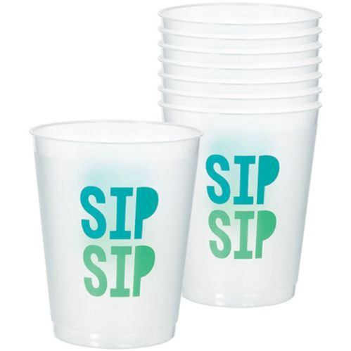 Shimmering Party Frosted Stadium Cups, 8-pk Product image