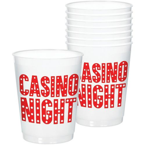 Roll the Dice Casino Frosted Stadium Cups, 8-pk