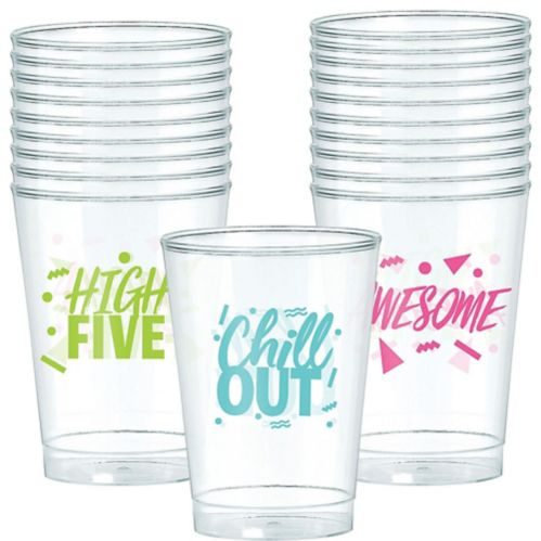 Metallic Awesome '80s Plastic Cups, 20-pk
