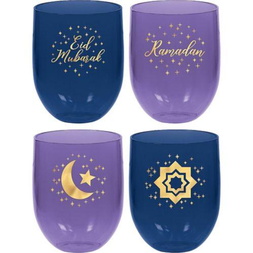 Ramadan Plastic Stemless Tumblers, 4-pk Product image