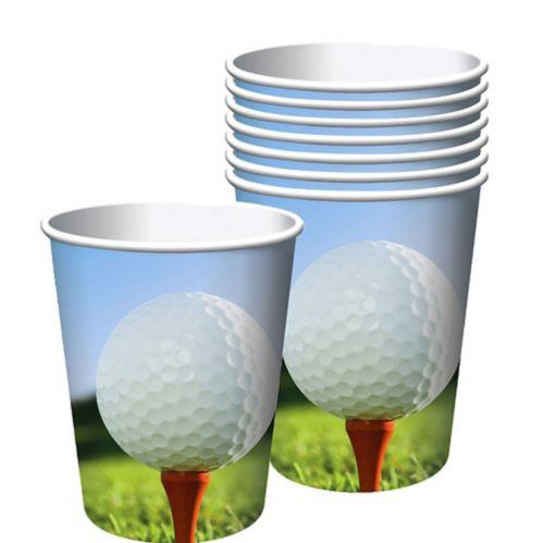 Gobelets en papier, thème du golf, paq. 8 Image de l'article