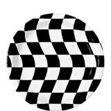 Checkered Dessert Plates, Black/White, 8-pk