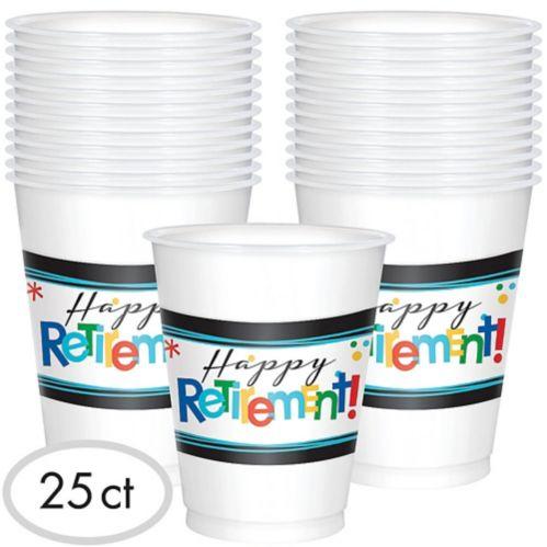 Verres Célébration Happy Retirement, paq. 25