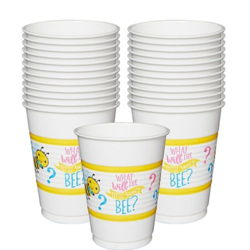 Little Honey Bee Plastic Cups, 25-pk