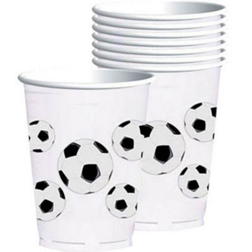 Verres en plastique, Amateur de soccer, paq. 8