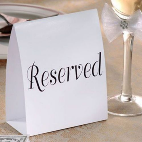 Reserved Table Cards, 12-pk