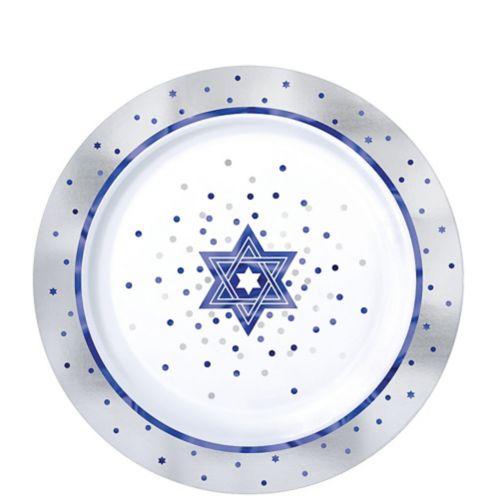Happy Passover Premium Plastic Dessert Plates, 20-pc