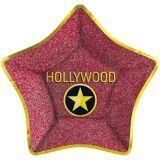 Assiettes plates métallisées Hollywood Star, paq. 8 | Amscannull