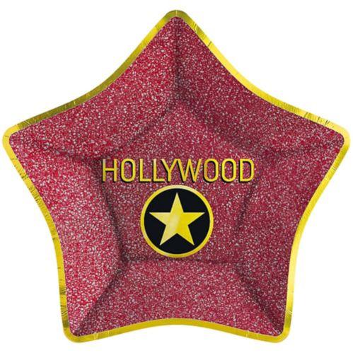 Assiettes plates métallisées Hollywood Star, paq. 8