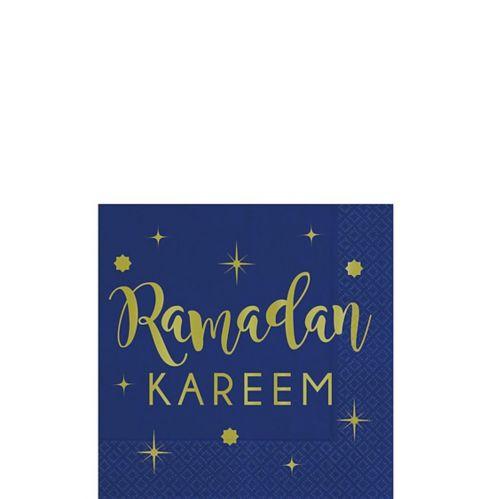 Metallic Gold Ramadan Kareem Beverage Napkins, 16-pk