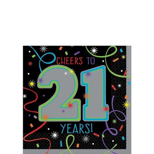 Brilliant 21st Birthday Beverage Napkins, 16-pk Product image