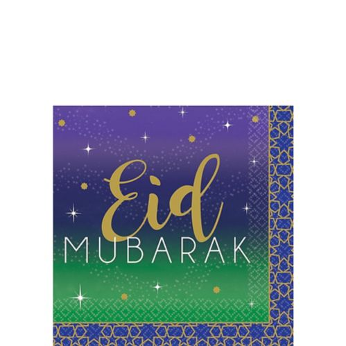 Eid Mubarak Beverage Napkins, 16-pk Product image