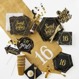 Serviettes à boissons Sweet 16 élégant, paq. 16 | Amscannull