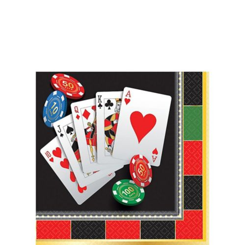 Roll the Dice Casino Beverage Napkins, 16-pk