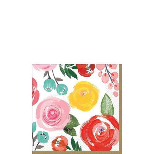 Bright Floral Beverage Napkins, 16-pk