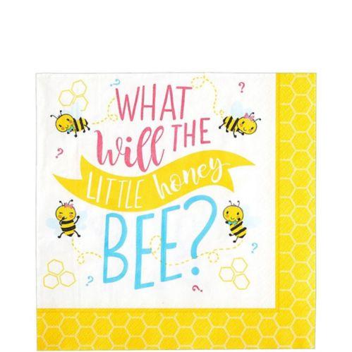 Little Honey Bee Lunch Napkins, 16-pk