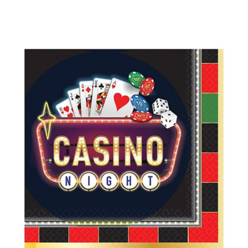 Roll the Dice Casino Lunch Napkins, 16-pk
