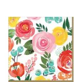 Bright Floral Lunch Napkins, 16-pk | Amscannull