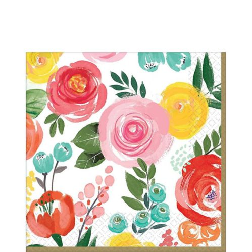 Bright Floral Lunch Napkins, 16-pk