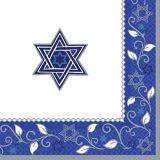 Grandes serviettes de table Joyeuse fête de Pessa'h, paq. 16 | Amscannull