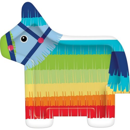 Shaped Rainbow Donkey Pinata Dinner Plates, 8-pk Product image
