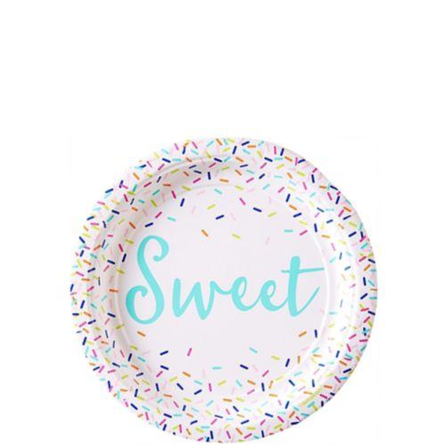 Colourful Sprinkles Dessert Plates, 8-pk