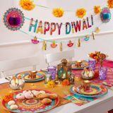 Assiettes à dessert diwali, paq. 8