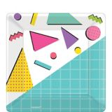 Awesome '80s Dessert Plates, 8-pk | Amscannull