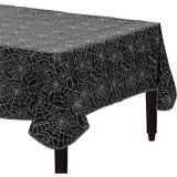 Spider Web Flannel-Backed Vinyl Table Cover | Amscannull