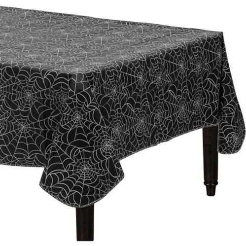 Spider Web Flannel-Backed Vinyl Table Cover