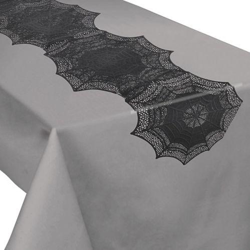Black Spider Web Table Runner